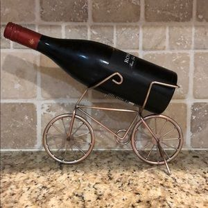 Bicycle wine bottle holder. (Wine not included)